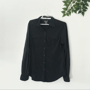 Exofficio Black Long Sleeve Button Down Shirt S